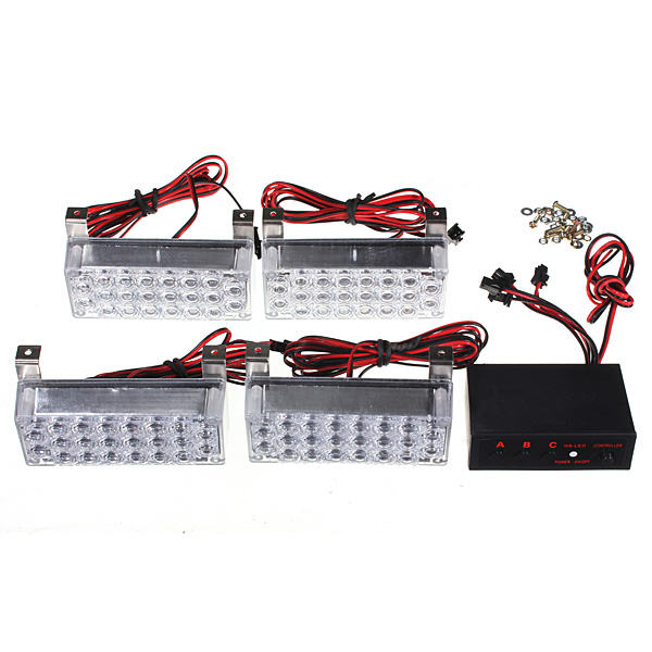 New 12V 22x4 LED Flash Amber Car Emergency Light 4 Bars Warning Strobe Auto Lamp<br><br>Aliexpress