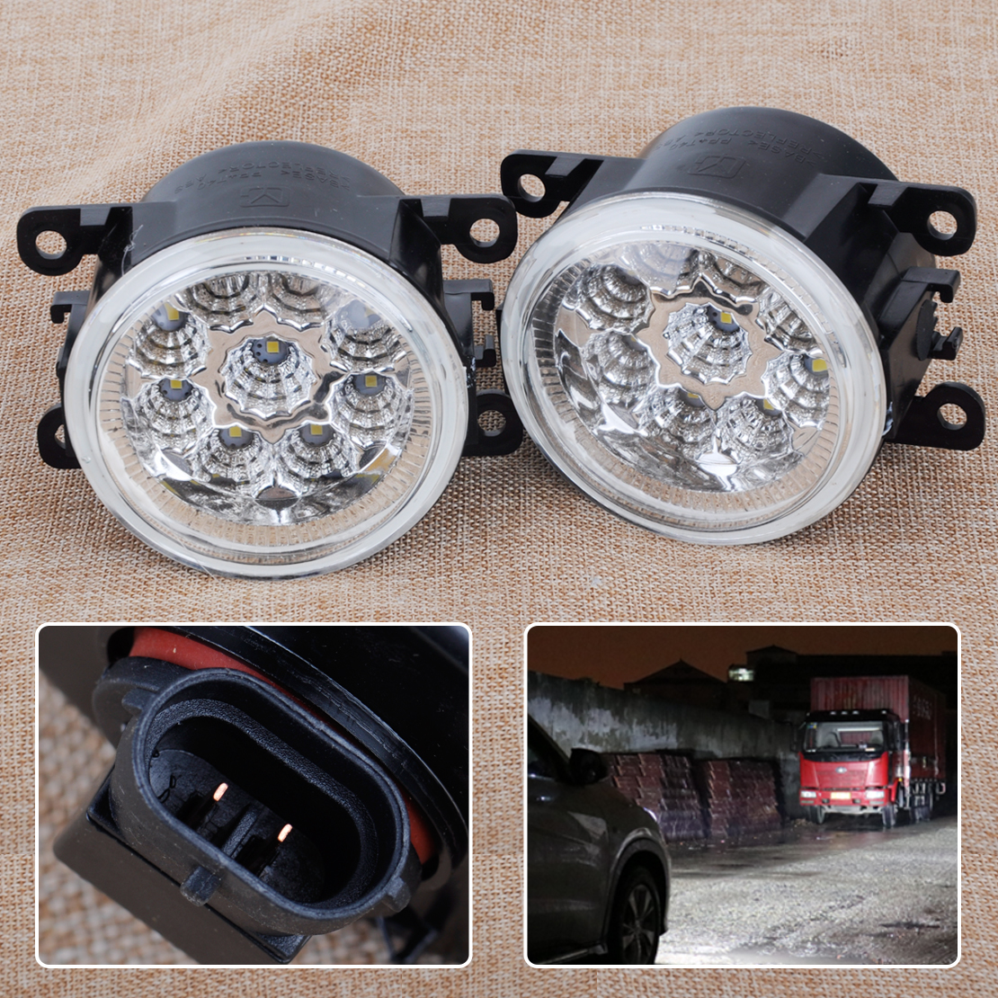 CITALL 2X 9 LED Front Fog Lamps DRL Daytime Running Driving Lights Fit for Infiniti G37 M45 M35 QX60 Nissan Altima Maxima Versa<br>