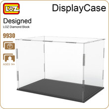 LOZ ideas Display Case For Diamond Blocks Assembly Figures Buildings Transparent Display Box Accessories Nano Pixels Toys 9930(China)