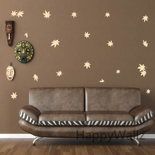 Maple Leaves Wall Sticker Baby Nursery Leaves Wall Decals DIY Kids Room Decorating Vinyl Wall Art P71
