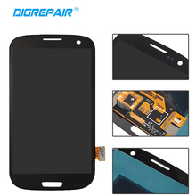 Black For Samsung Galaxy S3 i9300 LCD Display Touch Screen Digitizer Full Assembly Replacement, Free Shipping(China)
