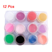 Best Sale New 12 Mix Colors Acrylic Powder Builder Nail Art Set Ladies/Girl Special Gift(China)