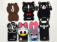 For Redmi Note 4 Cute 3D Silicon Bunny Cat Bear Cartoon Soft Cell Phone Case Cover for Xiaomi Red Note 4 Pro Prime