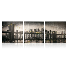IARTS Acrylic City Paintings Architecture Modern Abstract ART Unframed Wall Art Size 16''X16''*3inch 3 Pieces Group Paintings(China)