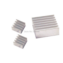 3pcs, 1set, heatsink for Raspberry Pi Model B+ 2, 14x14x6mm, 11x11x5mm, Extruded Aluminum heatsink, IC Chip VGA Memory radiator