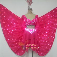LED Clothes Women/Lady 2015 Fashion Dresses Sexy Catwalk Luminous Costumes Shorts Glowing Wing LED Clothing Dance Free Shipping