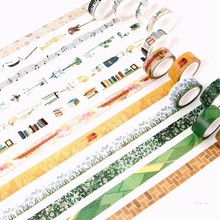 1 PCS Size 15mm*7m Washi Tapes DIY Musical Instrument Wall  Paper Masking Tape Decorative Adhesive Tapes Scrapbooking Stickers