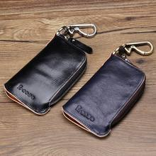 Brand New Genuine Leather Key Case Car Key Wallet Luxury Gift For Men & Women Housekeeper Holders Key Bag Case(China)