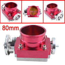 TOP Quality UNIVERSAL 80mm THROTTLE BODY throttle valve red Throttle Body Spacer  -Speedway