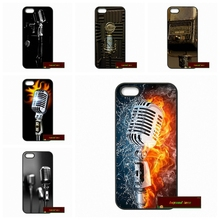 Old School Style Microphone Music Hard Phone Cases Cover For iPhone 4 4S 5 5S 5C SE 6 6S 7 Plus 4.7 5.5