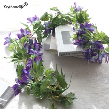 Artificial Flowers Artificial Plants Morning Glory Vines Fake Leaf Wedding Decoration Home Decor Party Christmas Ornaments FA(China)