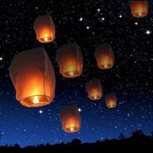 Promotion 20pcs Chinese Paper Lantern Sky Lanterns Kongming Flying Wishing Lamp Balloon Wedding Party Decoration