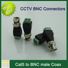 20Pcs/lot Mini Coax CAT5 To Camera CCTV BNC UTP Video Balun Connector Adapter BNC Plug For CCTV System Accessories wholesale(China)