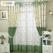 Blinds Curtains for The Bedroom Top Fashion Hot Sales Rustic Curtain Finished Products Small Dot Fresh for free Shipping