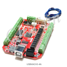 The Mach3 USB CNC4 axis engraving machine interface board for four axis motion control card Weihong round control board