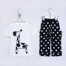 Summer New Style Baby Boys Fashion Short T-shirts And Middle Pants Children's Clothing Sets Boys Cotton Dress 1981
