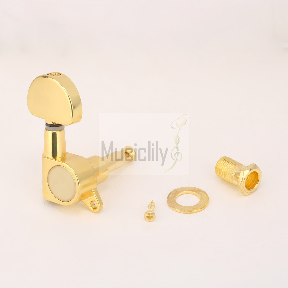 1Pc Gold Half Moon Button Guitar Sealed String Tuning Peg Key Machine Head Tuner For Right Hand<br><br>Aliexpress