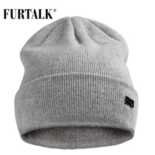 FURTALK Winter Hats for Women Men Knitted Beanie Hat Cap for Girls Wool Brand Hat Female and Male Skullies Couples Stocking Hats(China)