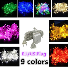 10M 20M 30M 50M 100M Led String Fairy Lights Wedding Party Xmas LED Light Waterproof 9 color
