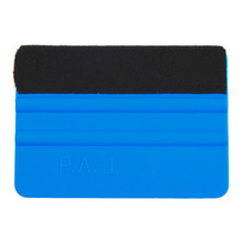 New 1Pcs Squeegee Car Film Tool Vinyl Blue Plastic Scraper Squeegee With Soft Felt Edge Window Glass Decal Applicator