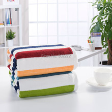 Home textile!New 80% Bamboo fiber+20% cotton Bath Towel Striped towel,Bamboo fiber Bath sheets towels, Large Size 90x180CM,630g(China)