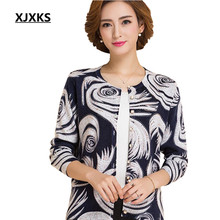 New 2016 Hitz Floral wool cardigan sweater Women high quality cashmere sweater coat big yards printing Top