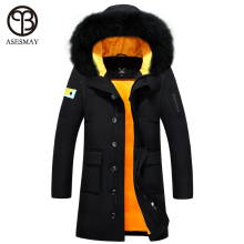 Asesmay 2016 men coat parka men down coat new fashion winter down jacket wellensteyn long down waterproof duck down jacket