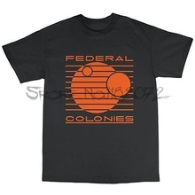 brand mens tshirts Federal Colonies Total Recall Inspired T-Shirt 100% Cotton Arnie Sci Fi(China)