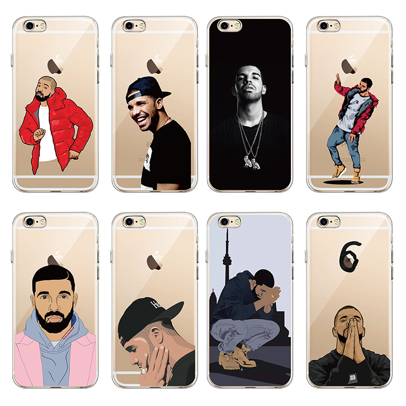 iPhone 7 7Plus 6 6S 6Plus 5 5S 8 8Plus X SAMSUNG Cute Sexy Drake One Dance 6 God 1 800 Hotline Bling Soft Phone Fundas Coque