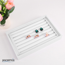 Velvet Earrings Ring Organizer Ear Studs Jewelry Display Stand Holder Rack Showcase 6 Colors 22.5*14.5*3cm(L*W*H)(China)