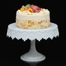 NEW Plastic Cake Stand Round Cake Shelf Rack Holder For Wedding Party Cake Dessert Serving Tools Decoration European Style(China)