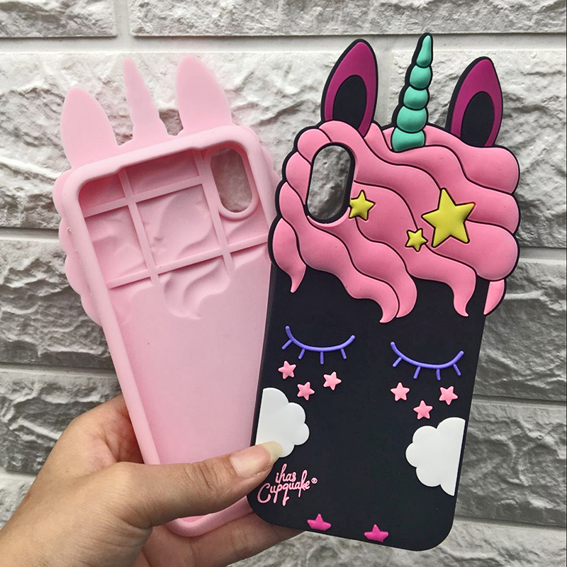 3D Cute Cat Unicorn Dog Rubber Case For iPhone 7 6 6S Plus 5s SE Soft Silicone Cartoon Cover Back For iPhone 8 7 6S 5S X Capa (17)