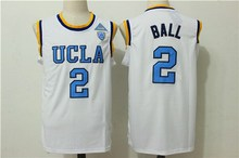 #2 lonzo ball UCLA Bruins Retro throwback College Basketball jersey Embroidery stitching(China)
