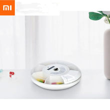 Xiaomi ZAYATA Portable Smart Mini Pill Box Travel Pill Case connect with Phone Smart Reminder Synchronized Taking medicine recor(China)