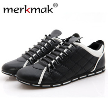 Merkmak Hot Sale British Style Men Shoes Fashion Casual Breathable Loafer Men's Flats Shoes Leisure Softs Footwear Drop Shipping