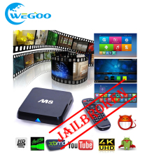 M8 android smart tv box JAILBROKEN Amlogic S802 Quad Core 2G/8G 4K box Smart Google TV Bluetooth HD 2.4G/5.8G Dual WiFi Mini PC
