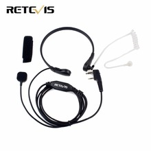 Throat Mic PTT Earpiece for Kenwood BAOFENG UV-5R Baofeng BF-888S Retevis H777 Retevis RT3 RT-5R TYT QUANSHENG Ham Radio C9007A(China)