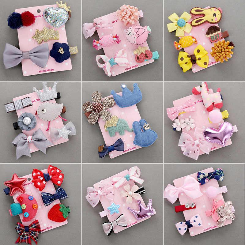 Baby Headwear Cute Hair Clips Accessories For Kids Children Hair Clip 6Pcs//set