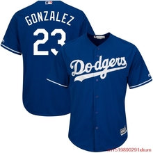 MLB Men's Los Angeles Dodgers Adrian Gonzalez Baseball Royal Alternate Cool Base Player Jersey(China)