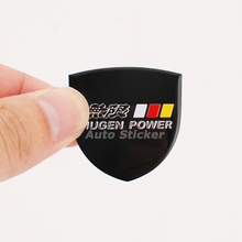 3.4x3.5cm MUGEN POWER Sticker Badge For Honda City CR-V Accord FIT Odyssey Stream Crider Greiz CIVIC Elysion Spirior Crosstour