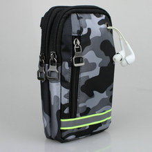 Cell Phone Purse Bag Camouflage Wateproof Nylon Waist Pack Pouch For iPhone Galaxy Huawei Xiaomi Max Sony Google Pixel and More(China)
