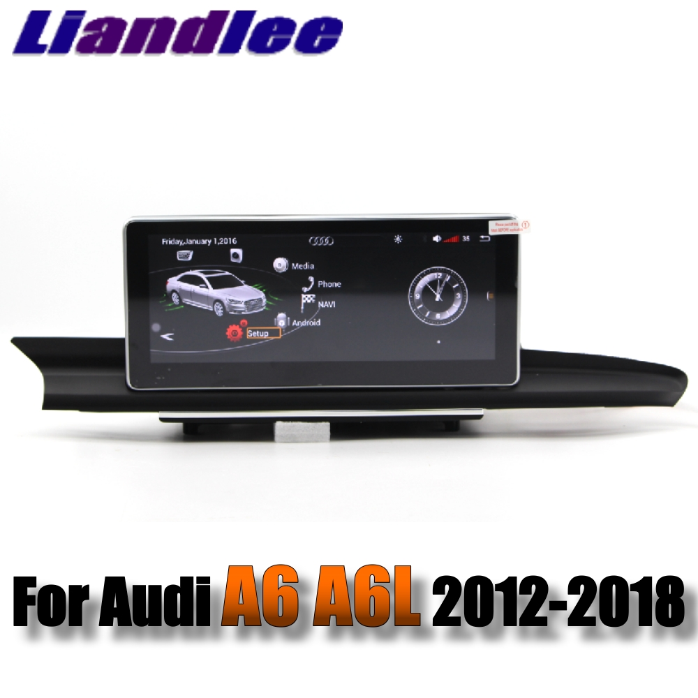 Liandlee Car Multimedia Player NAVI For Audi A6 A6L S6 RS6 C7 4G 2012~2018 Accessories 10.25 inch Radio Stereo GPS Navigation 1