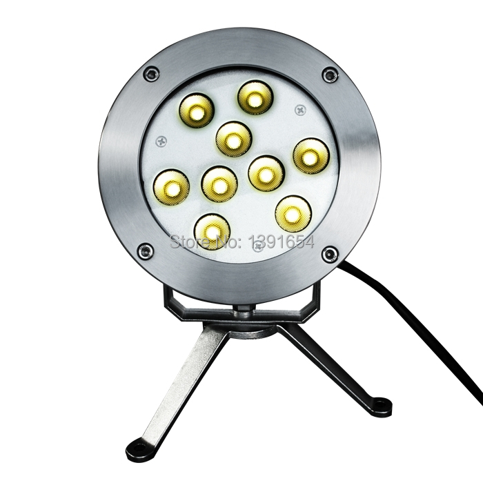 CE ROHS 4pcs/lot 304 Stainless steel  24V 27W Single RGB LED Underwater Lamp white IP68 Pond fountain led light color changing<br><br>Aliexpress