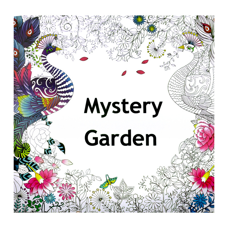 Mystery Garden Coloring Book for Adults Kids Antistress Art Books Mandala The Secret Garden Quiet Color Drawing 25*25cm 24Pages(China)