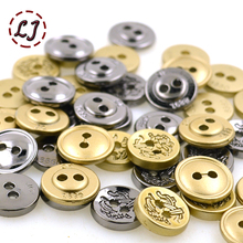 New arrived High quality 10pcs/lot small metal sewing button zinc alloy gold black color used for shirt garment accessories(China)