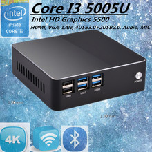 Eglobal Intel Core VC i3 5005U Broadwell Mini PC Linux Micro Computer Win10 HTPC TV Box 300M Wifi VGA HDMI(China)