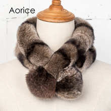 Aorice SF756 The new women's real rabbit fur fur scarf(China)