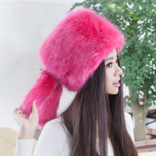 2015 Hot selling new arrival faux fox fur hats,Elegant fashion ladies snow hat Cute girls cartoon rabbit ear plush earflap caps(China)