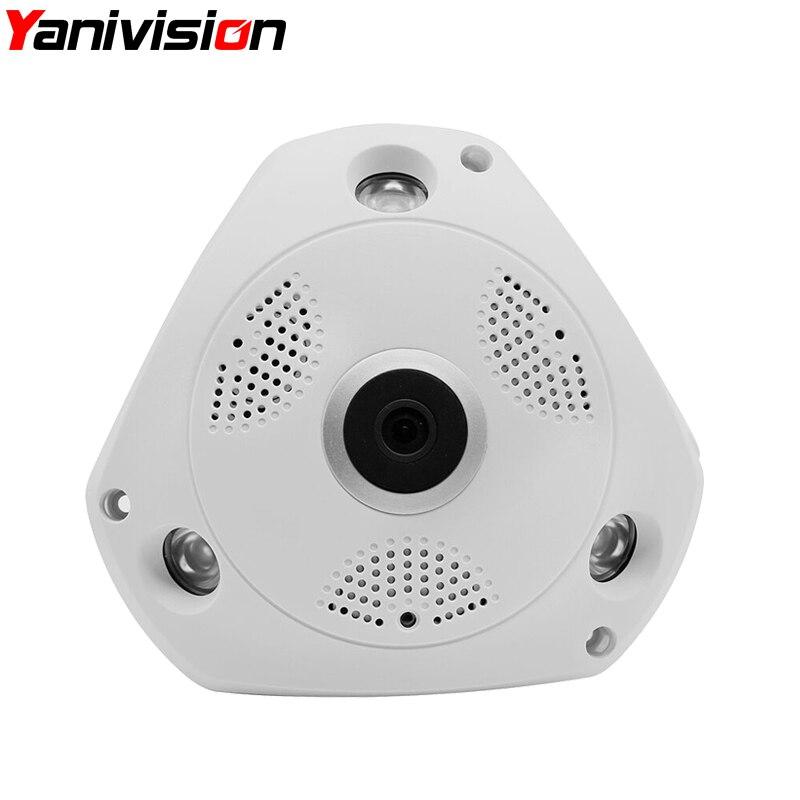 Yoosee 360 Degree Panoramic Camera HD 960P 3MP IP Camera Wi-fi Two Way Audio Indoor Night Vision VR Security Camera Wireless<br>