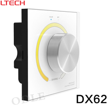 AC110V-240V DX62 Wall Mount 2.4G RF Wireless LED Sync CCT Color Temperature Controller DMX512 Signal Ouput for Dual White Strip